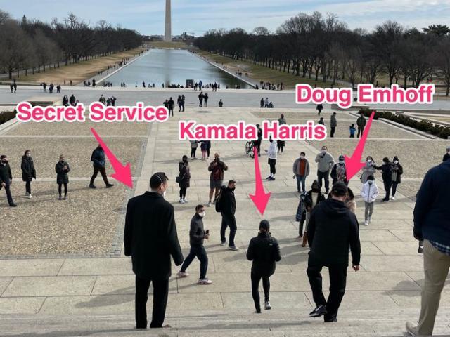 Lộ video mật vụ Mỹ đuổi theo nữ Phó Tổng thống khi tập thể dục hút 4 triệu view