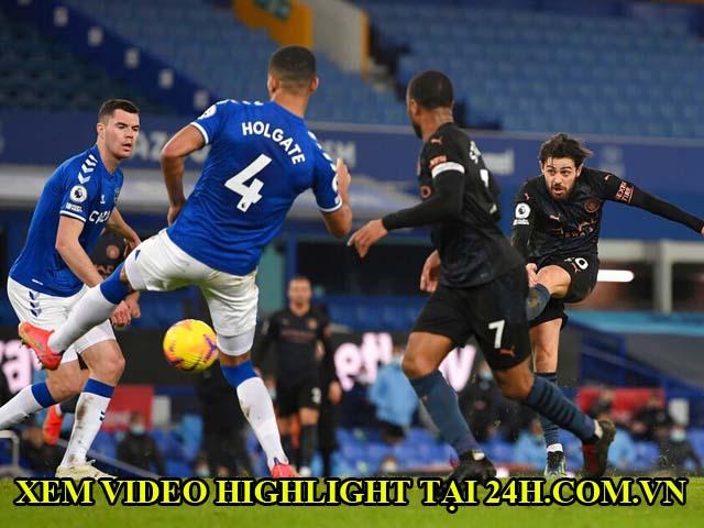 Video Everton - Man City: Bước ngoặt siêu phẩm, củng cố ngôi đỉnh bảng