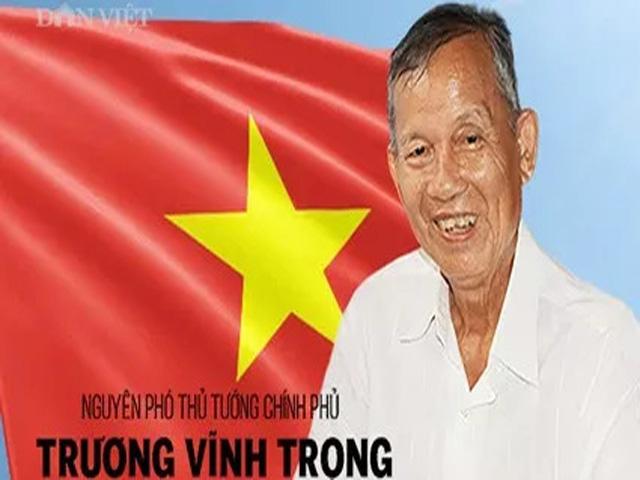 Infographic về sự nghiệp của nguyên Phó Thủ tướng Trương Vĩnh Trọng