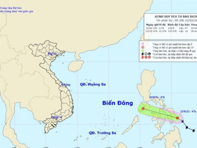 Thông tin mới nhất về bão Đỗ Quyên đang hoạt động gần Biển Đông