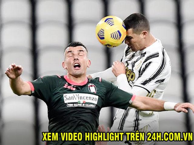 Video Juventus - Crotone: Ronaldo rực sáng, bay vào top 3