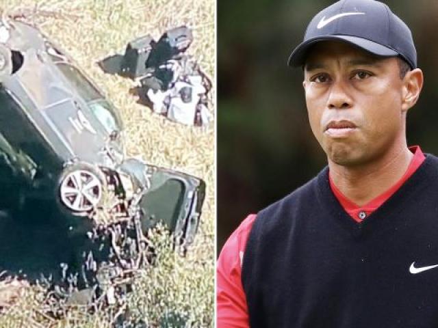 Huyền thoại golf Tiger Woods gặp tai nạn lật xe hơi: Tính mạng giờ ra sao?