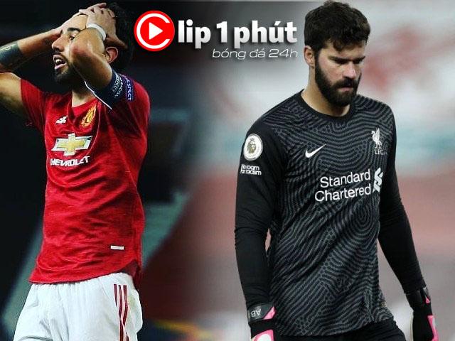 """MU bị chỉ trích """"vắt kiệt"""" Fernandes, Liverpool mất Alisson 5 trận? (Clip 1 phút Bóng đá 24H)"""