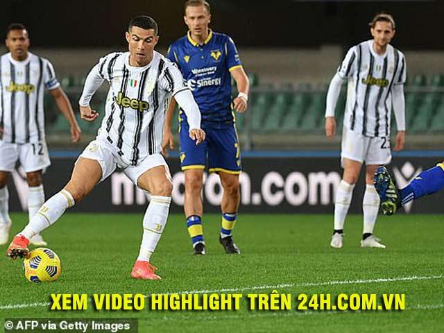 Video Hellas Verona - Juventus: Ronaldo khai hỏa, kết cục sững sờ
