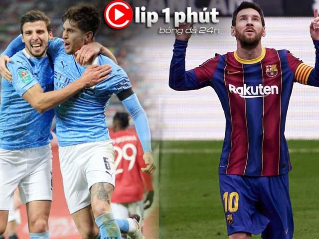 Man City thăng hoa không cản nổi, Messi săn bàn số 1 châu Âu (Clip 1 phút Bóng đá 24H)
