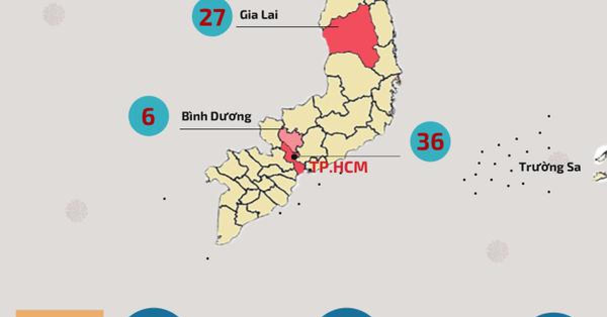 Chi tiết số ca mắc COVID-19 mới nhất tại 13 tỉnh, thành trên cả nước