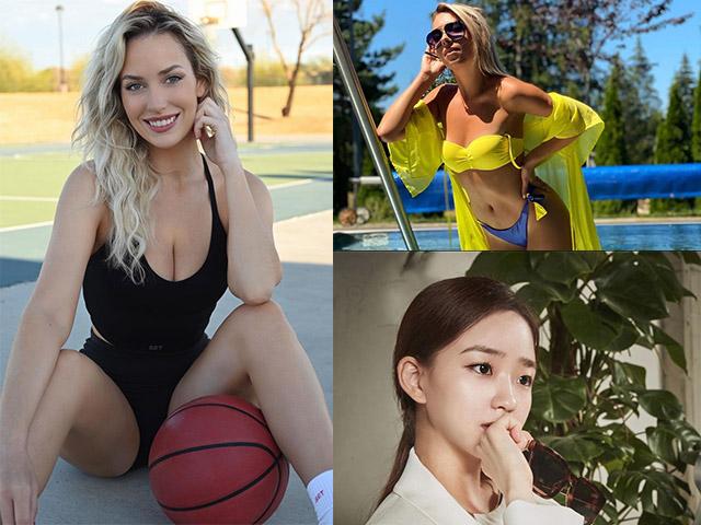 """Hot girl golf """"siêu vòng 1"""" lộ sở thích mới, mỹ nhân bóng bàn rạng rỡ ở bể bơi"""