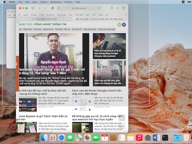 Cách chụp ảnh màn hình và thay đổi nơi lưu, tên file trên macOS