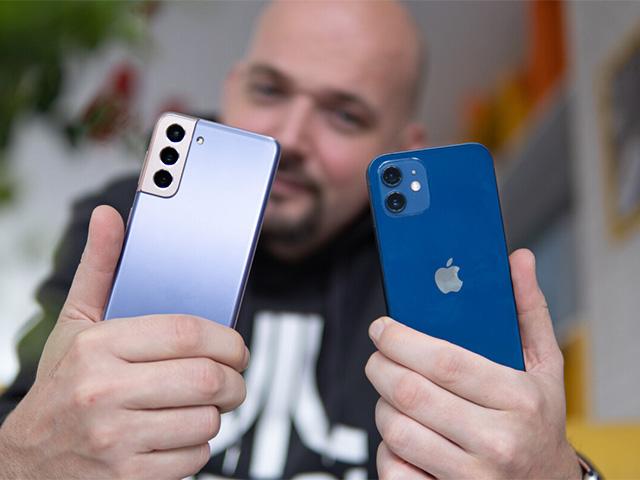 Chỉ có camera sau kép, iPhone 12 vẫn chụp ảnh ngang cơ Galaxy S21 có 3 camera