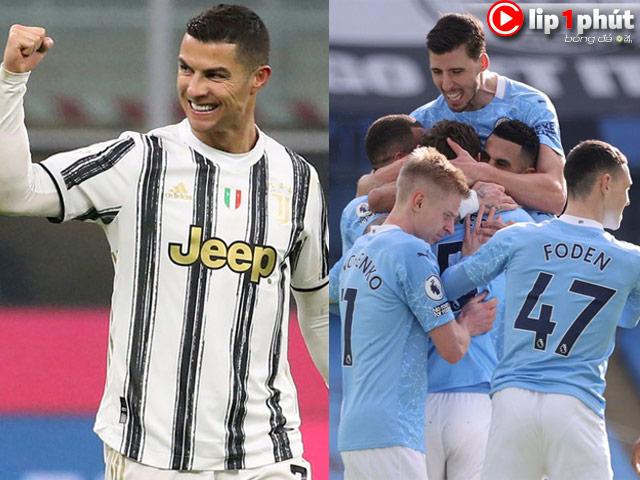 """Ronaldo vẫn là """"Vua dội bom"""" châu Âu, Man City """"phá nát"""" Derby Manchester (Clip 1 phút Bóng đá 24H)"""