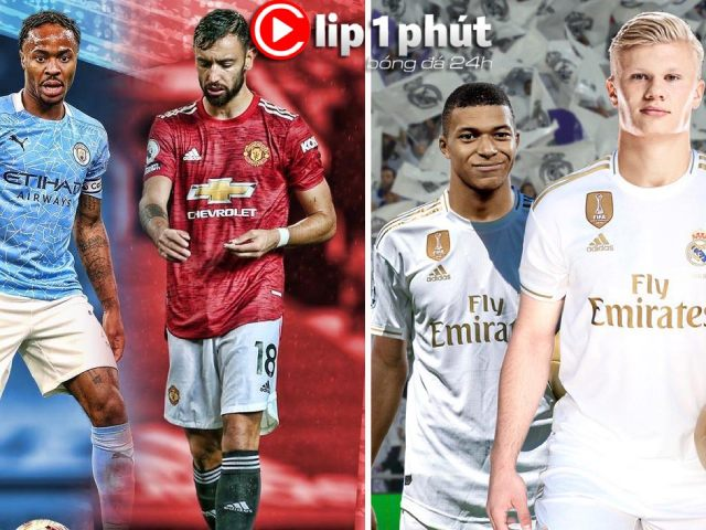 """Man City sợ sao MU nào nhất trận derby, Real """"chốt"""" Mbappe hay Haaland? (Clip 1 phút Bóng đá 24H)"""