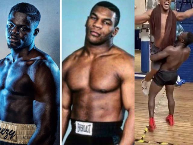 """Phát khiếp """"Mike Tyson"""" mới đấm đối thủ ngã ngửa, nhấc bổng Joshua"""