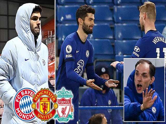 """Chuyển nhượng sốc MU - Chelsea: Bị ghẻ lạnh, """"đội trưởng Mỹ"""" Pulisic đến Old Trafford?"""