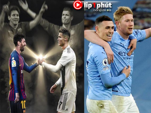 Kịch bản Messi bắt tay Ronaldo phá dớp Cúp C1, Man City sẽ giành cú ăn 4 ra sao? (Clip 1 phút Bóng đá 24H)
