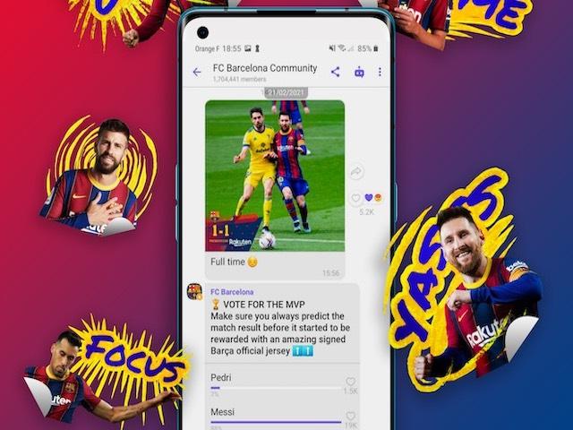 Fan hâm mộ FC Barcelona không thể bỏ qua tính năng mới trên Viber