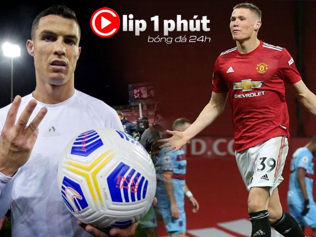 """Vì sao Ronaldo lập hat-trick vẫn lo, MU top 2 Ngoại hạng Anh vẫn """"buồn""""? (Clip 1 phút Bóng đá 24H)"""