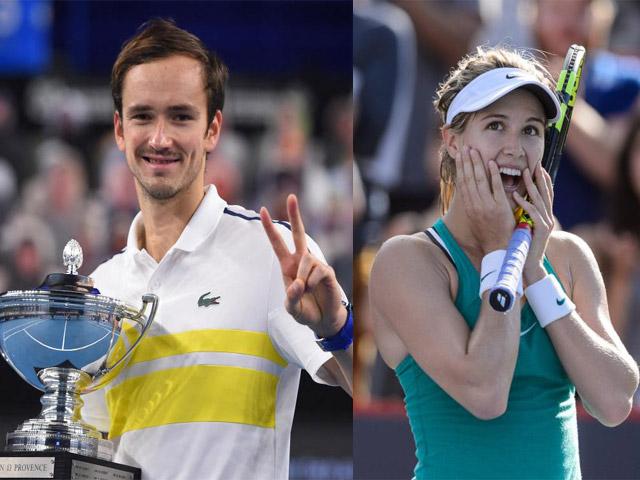 Medvedev ăn mừng chiến tích soán ngôi Nadal, mỹ nhân Bouchard gây thất vọng