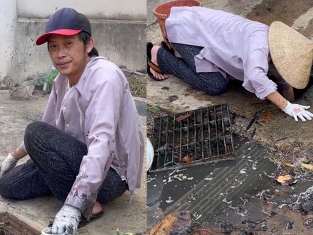 """""""Danh hài trăm tỷ"""" Hoài Linh thất nghiệp đi móc cống, hình ảnh mới gây ngỡ ngàng"""