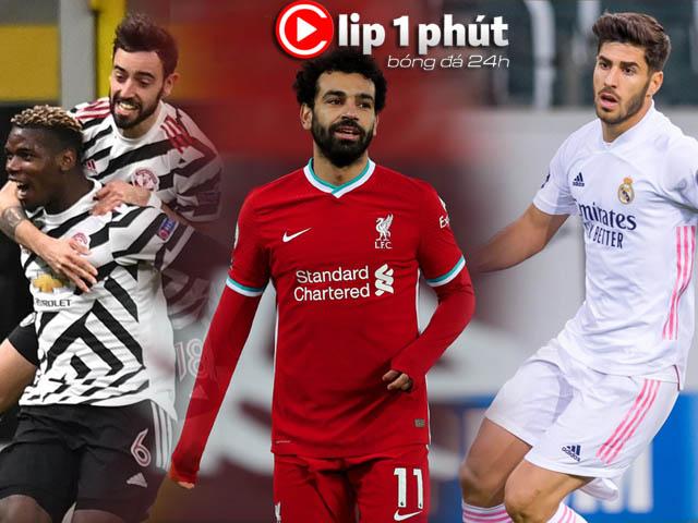 """MU khó lường vì Pogba và """"kép phụ"""", Liverpool định đổi Salah lấy SAO 500 triệu euro (Clip 1 phút Bóng đá 24H)"""