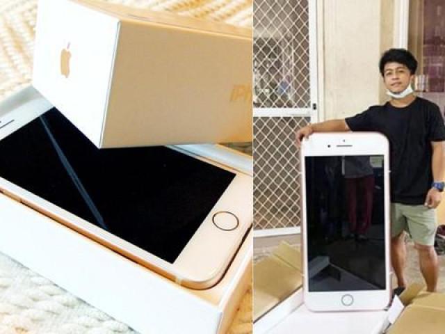 Đặt mua iPhone qua mạng, chàng trai choáng khi nhận được chiếc iPhone khổng lồ