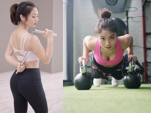 Hot girl tập Gym Giao Nhi cuồng võ vì lý do không ngờ, giỏi cả chục môn thể thao