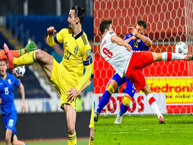 """Ibrahimovic tung cú """"kung fu"""" kiến tạo, Lewandowski rực cháy với cú đúp"""
