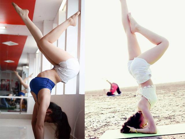 Hot girl Yoga Yến Linh trồng chuối bằng 2 tay cực đỉnh, khoe dáng nóng bỏng