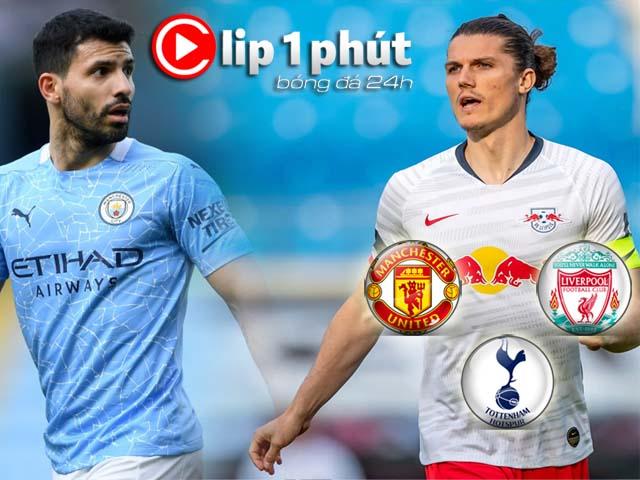 "Aguero rời Man City ""hot"" hơn cả Mbappe - Haaland, MU đấu Liverpool mua SAO Bundesliga (Clip 1 phút Bóng đá 24H)"