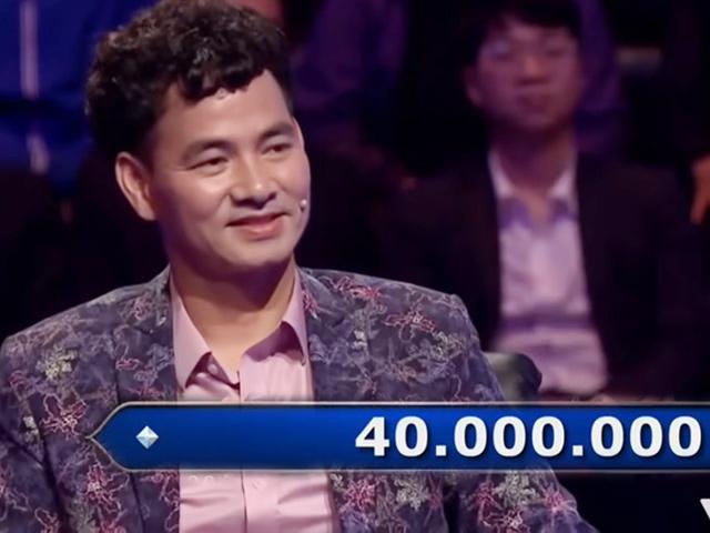 """Xuân Bắc thắng 40 triệu đồng khi đi thi """"Ai là triệu phú"""""""