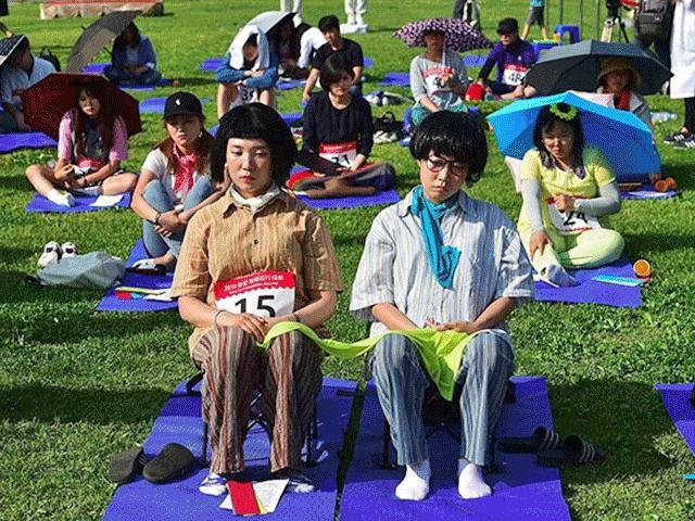 """Giới trẻ Hàn Quốc """"phát sốt"""" với môn thể thao... không làm gì"""