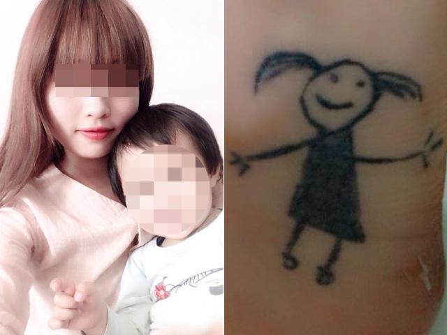 Bí mật sau bức hình xăm nguệch ngoạc của bà mẹ đơn thân