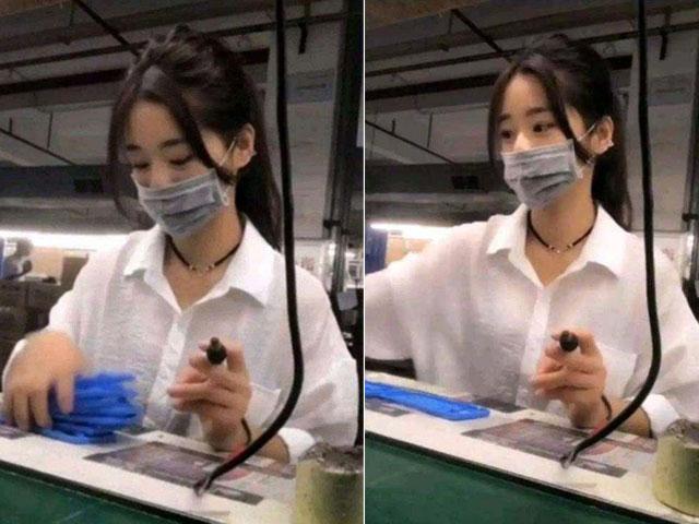 Nữ công nhân đeo khẩu trang gây sốt vì quá đẹp và sự thật