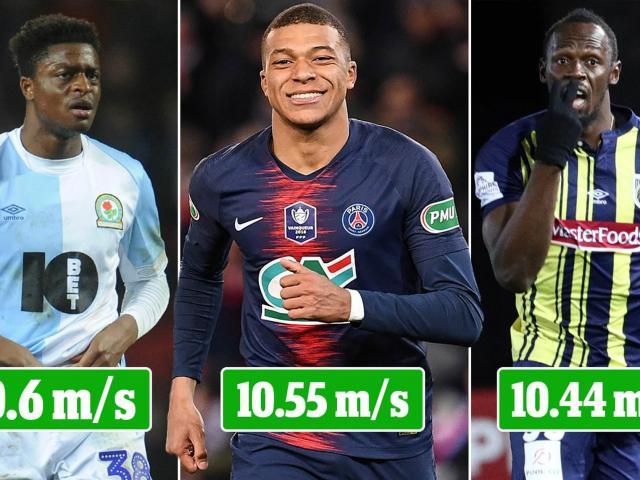 """Kinh ngạc: Xuất hiện cầu thủ chạy nhanh hơn U.Bolt và """"Thần gió"""" Mbappe"""