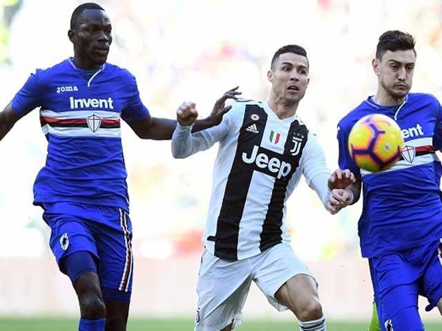 Trực tiếp bóng đá Sampdoria - Juventus: Kean & Dybala suýt ghi bàn