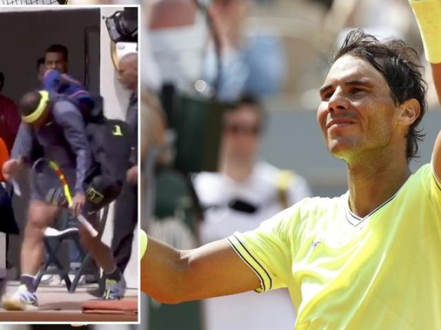 """Nadal gặp hạn vì """"tăng động"""" ở Roland Garros: 2 lần """"vỡ đầu"""" nhớ đời"""