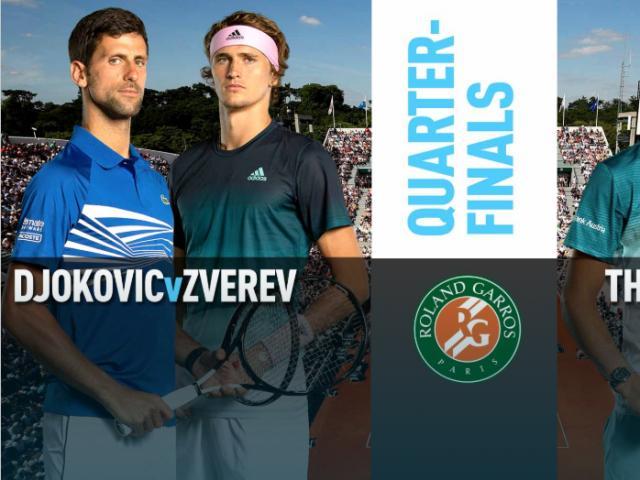 """Cập nhật Roland Garros ngày 11: Djokovic vượt qua """"ác mộng"""", Thiem chạm ải khó"""