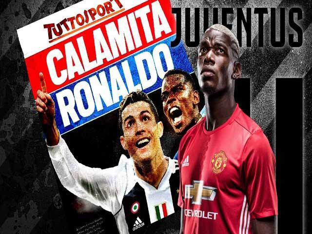 """Juventus chiêu dụ Klopp: """"Bom tấn"""" Pogba làm quà ra mắt, Ronaldo bái sư"""