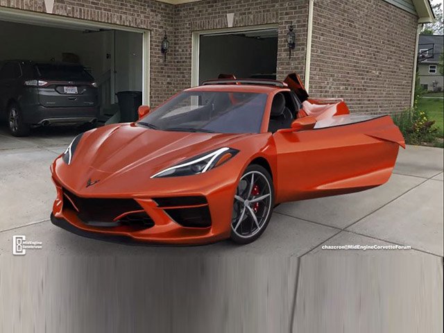 Hình ảnh 3D của Chevrolet Corvette mui trần thế hệ mới, mạnh mẽ như rồng lửa