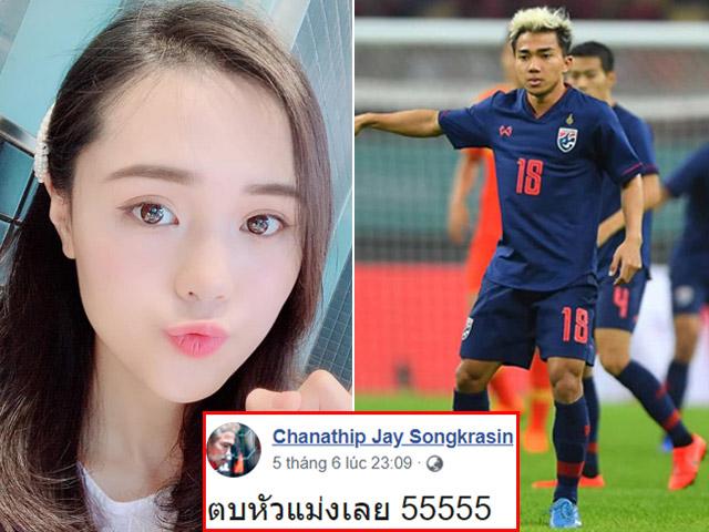 """Bạn gái Duy Mạnh vào Facebook Messi Thái Lan bình luận cực """"gắt"""""""