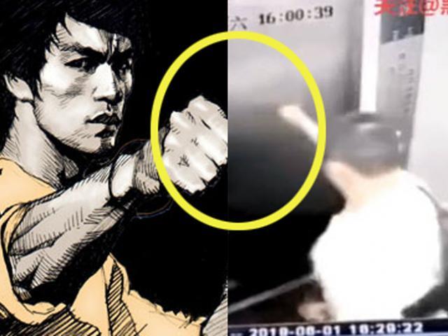 """Chấn động: """"Truyền nhân"""" Lý Tiểu Long tung cú đấm 1 inch vỡ thang máy"""