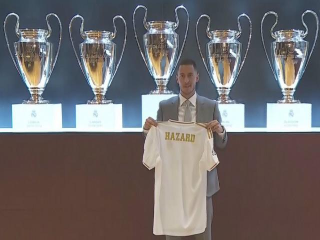 """CHÍNH THỨC """"bom tấn"""" Hazard tới Real: Hoành tráng như Ronaldo, Bernabeu chật kín"""