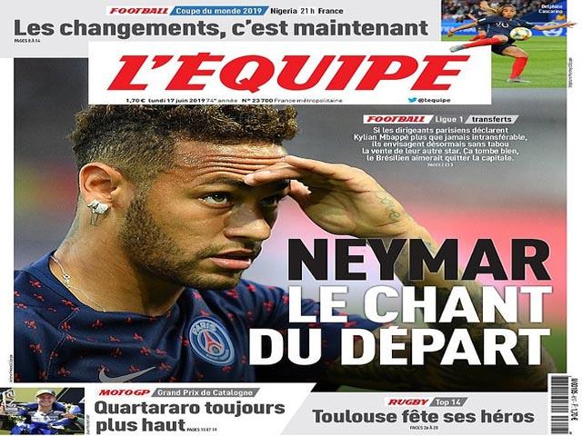 """PSG """"ra giá"""" Neymar: Barca - Real Madrid có đại chiến vì siêu sao?"""