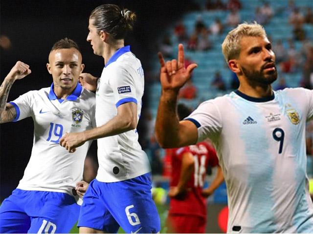 "Siêu phẩm Copa America: SAO Brazil ""nã rocket"", Aguero solo tựa Messi"