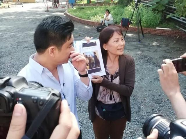 """""""Đụng mặt"""" nảy lửa tại sân tòa vụ xử vợ bác sĩ Chiêm Quốc Thái"""