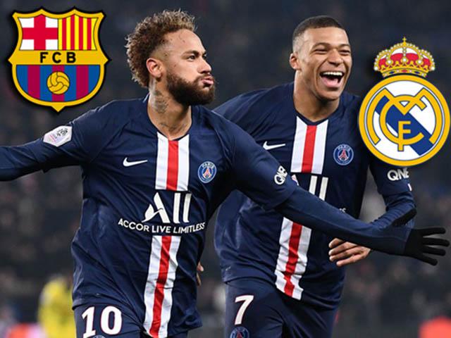 """Mbappe, Neymar bị PSG cắt 50% lương, chờ Real - Barca """"giải cứu"""""""