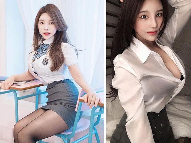 Mẫu nữ Hàn Quốc diện đồ công sở khiến đồng nghiệp dễ mất tập trung