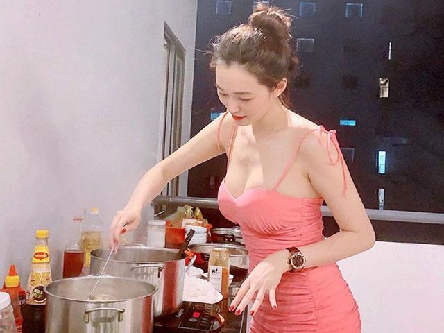 Trang phục khi vào bếp của Khánh My, Kỳ Duyên, Diệp Lâm Anh...