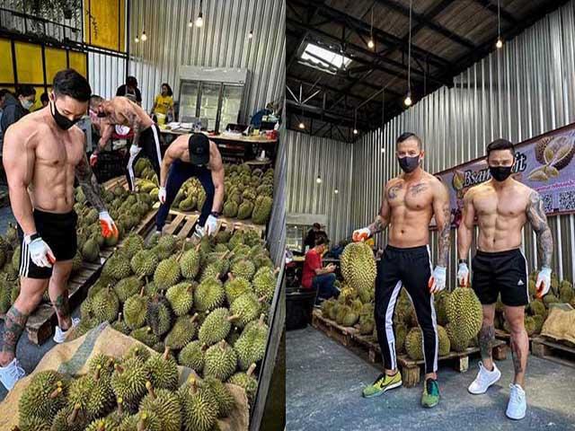 Cư dân mạng phát sốt khi dàn trai 6 múi đi bán sầu siêng giữa mùa dịch