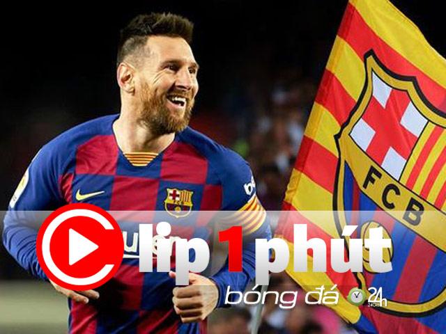 """""""Ông trùm"""" Messi thao túng chuyển nhượng cỡ nào khi Barca khủng hoảng? (Clip 1 phút bóng đá 24H)"""