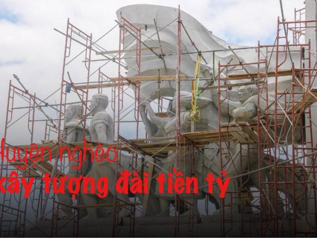 Huyện nghèo ở Quảng Nam xây tượng đài chục tỷ đồng